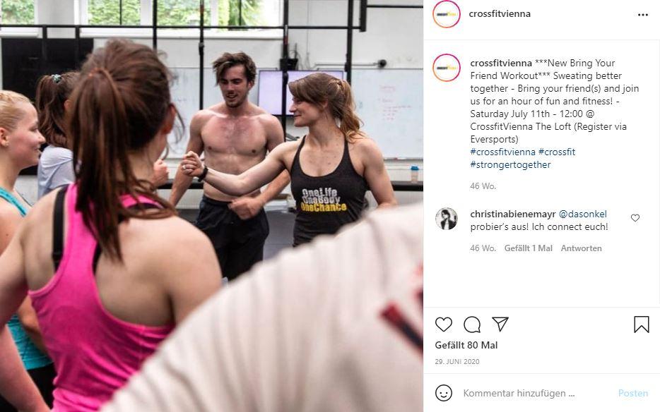 CrossFit Vienna Instagram Posting - FItness Marketing