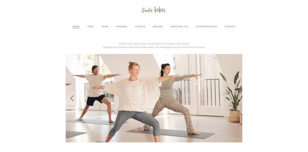 Homepage Yoga Studio Kokos