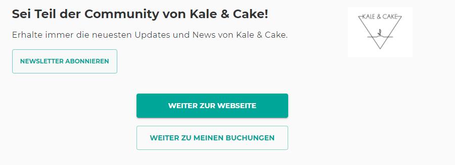 Anmeldung zum Yoga Newsletter von Kale & Cake - Marketing für Yoga Studios und Yogalehrer