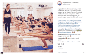 Yogaloft Yoga workout instagram post