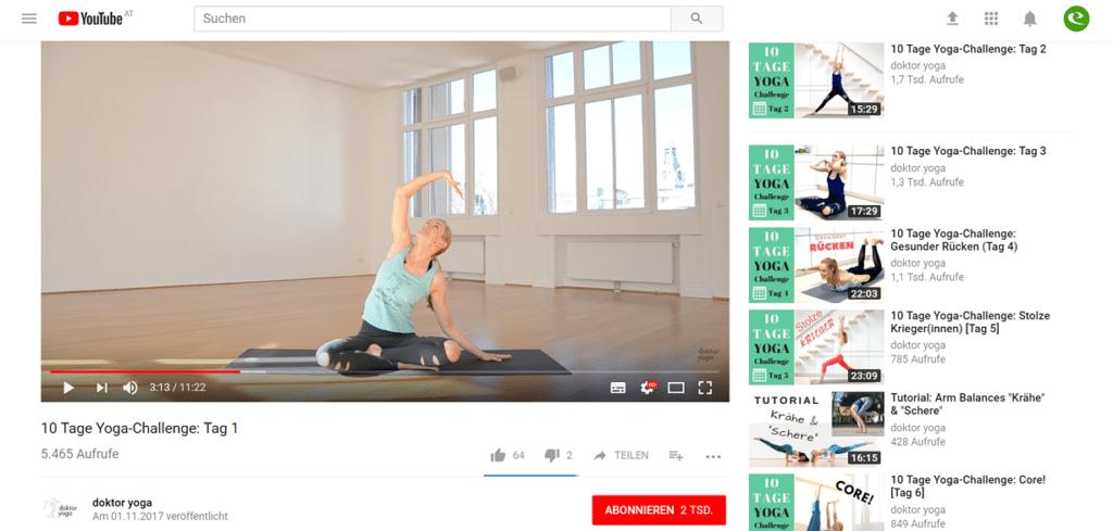 Youtube doktor yoga tutorial