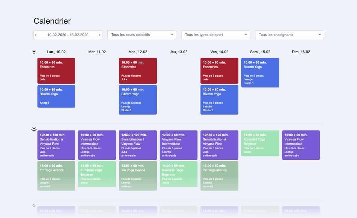 Planning Eversports