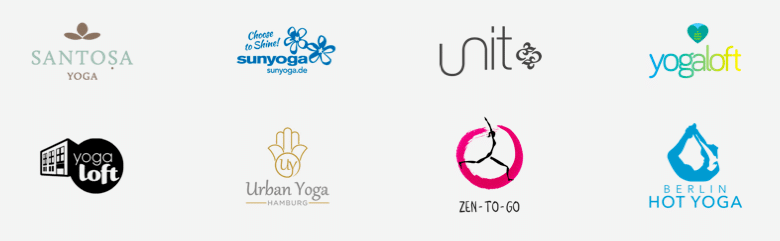 Logos der Yoga Software Parnter