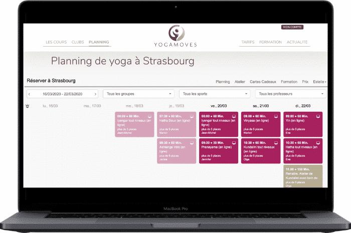 Ordi calendrier cours en ligne