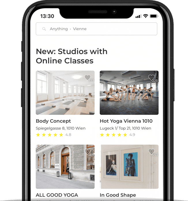 App Overview of online classes