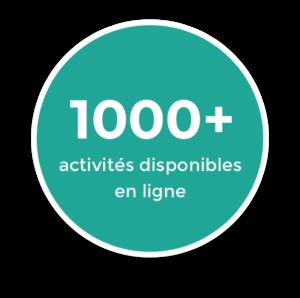 badge 1000 activités disponibles