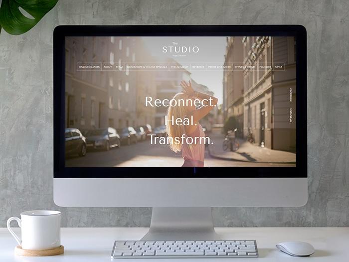 Website The Studio - Online-Klassen kommunizieren
