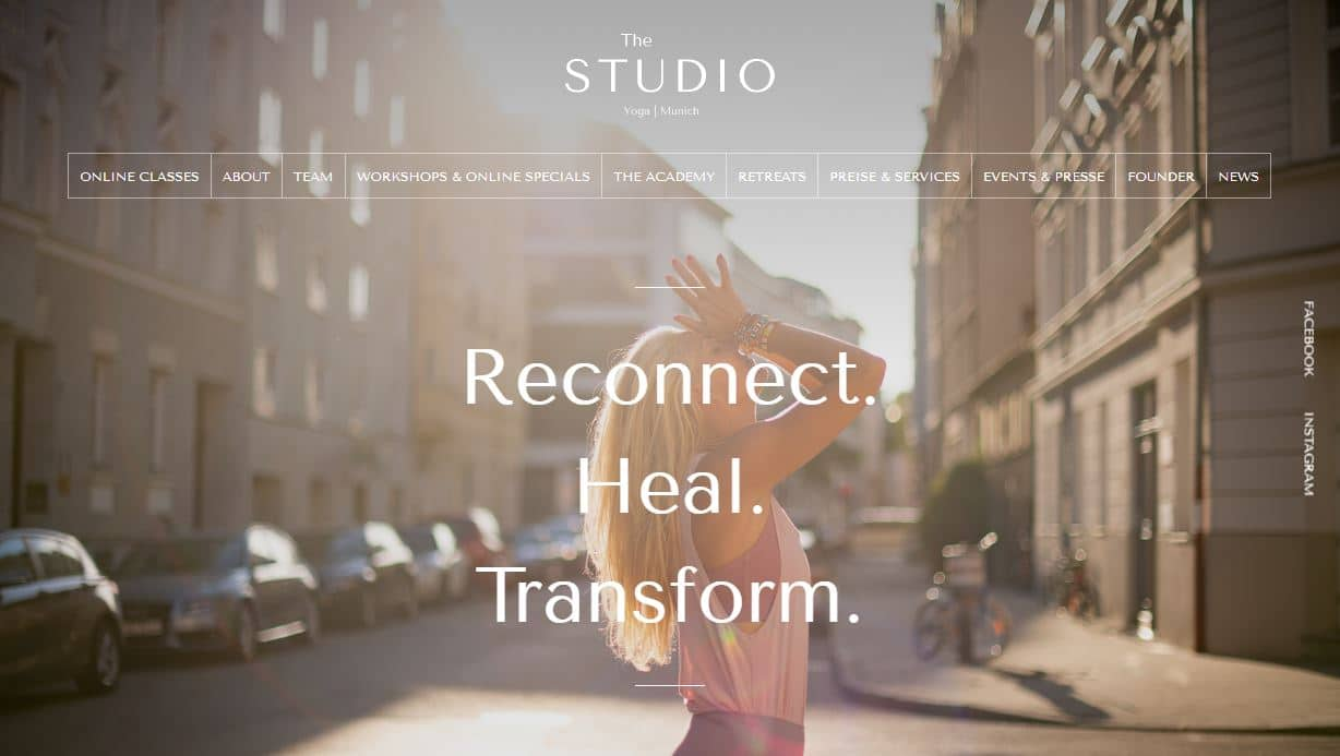 The Studio München Website