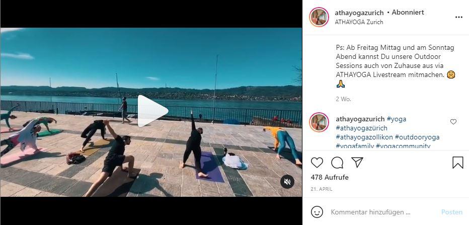 Atha Yoga Outdoor Klassen mit Liveübertragung
