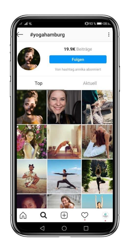 Instagram Stories Hashtags Yoga Hamburg