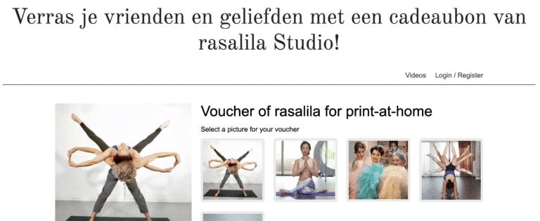 Cadeaubon maken op de website van Rasalila