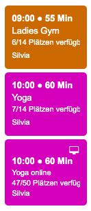 Stundenplan Schweizer Fitnessstudio