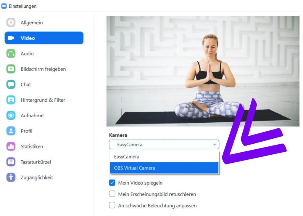 Zoom mit OBS verbinden für hochwertige Videos