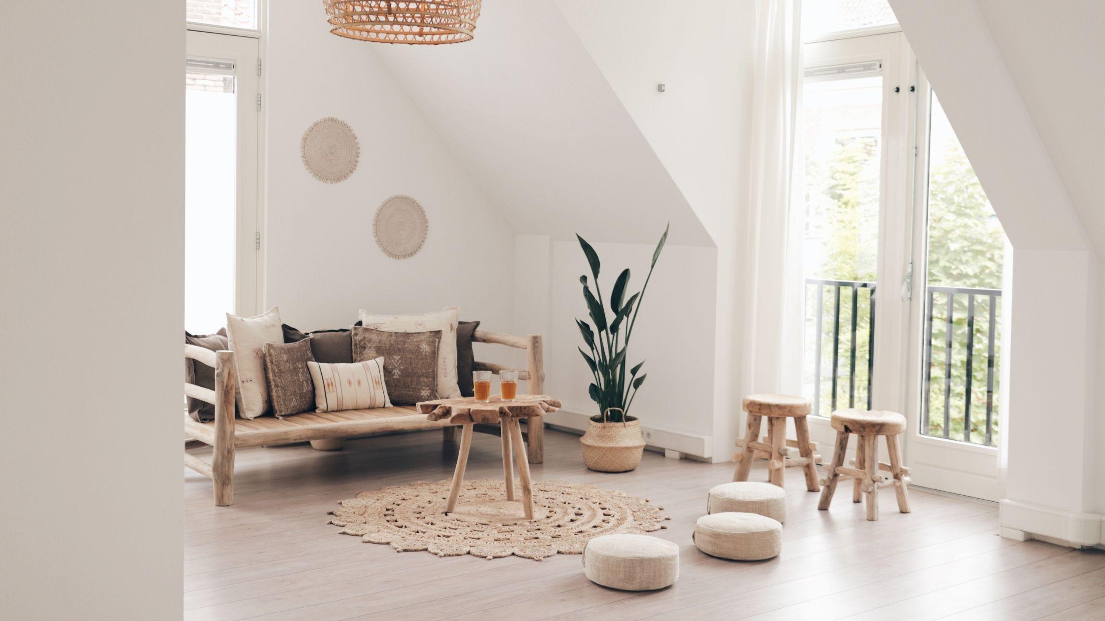 Het interieur van Yoga Studio Kokos