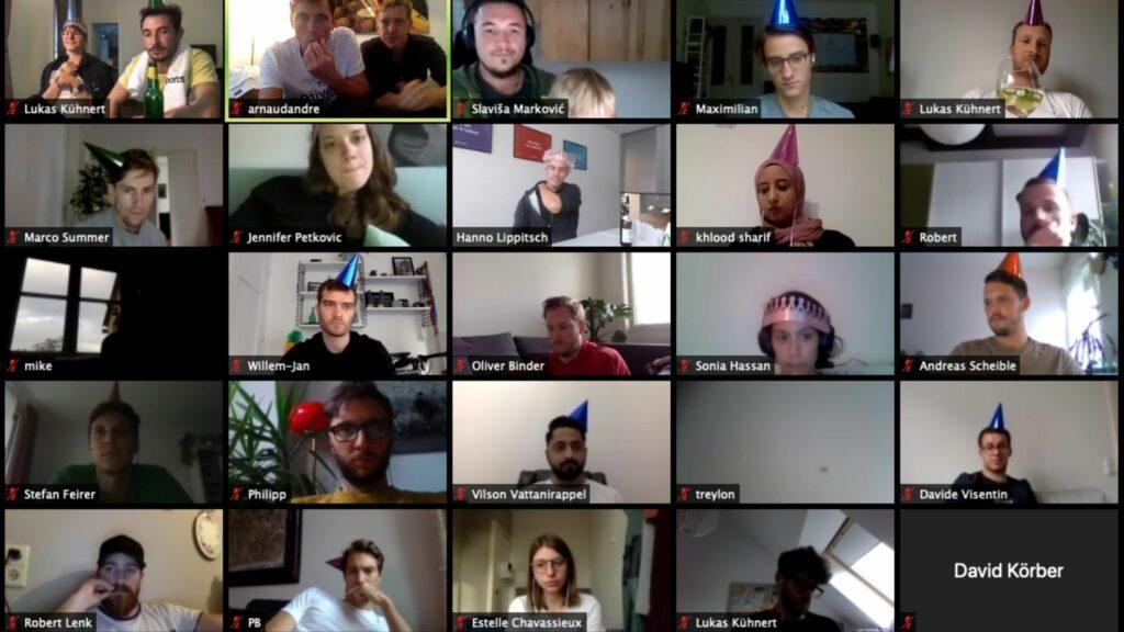 Team Evesports tijdens Zoom meeting
