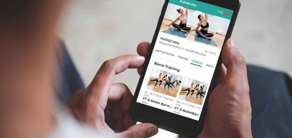 Website mobile Ansicht