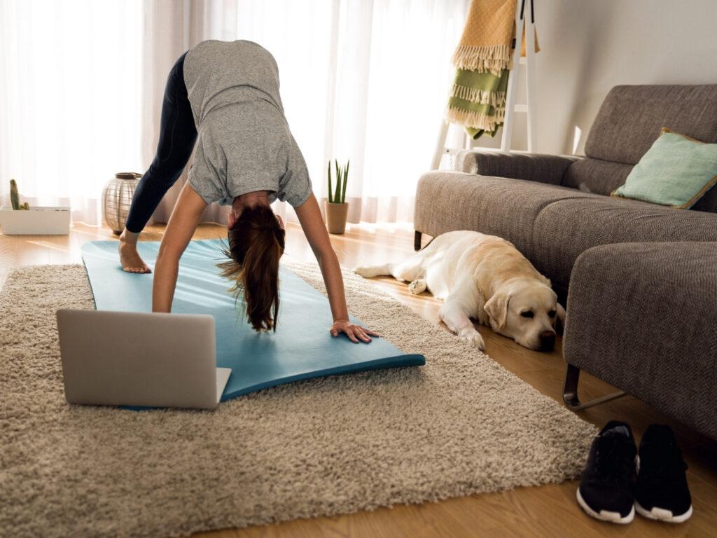 Online Yoga unter Einhaltung der Corona Regeln für Studios und Sportstätten
