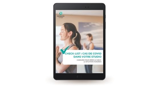 5 mesures à prendre si vous avez un cas de covid dans votre studio ou salle de sport : téléchargez la check-list !