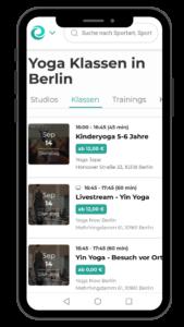 Yoga in Berlin mit der Eversports App buchen