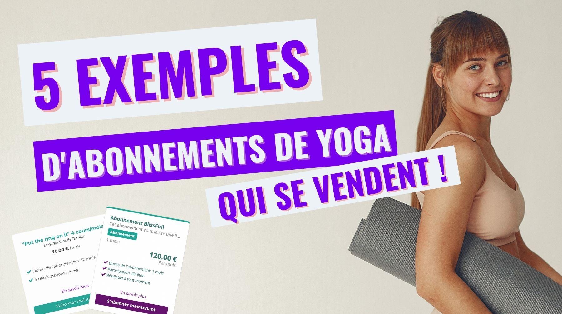 abonnement yoga