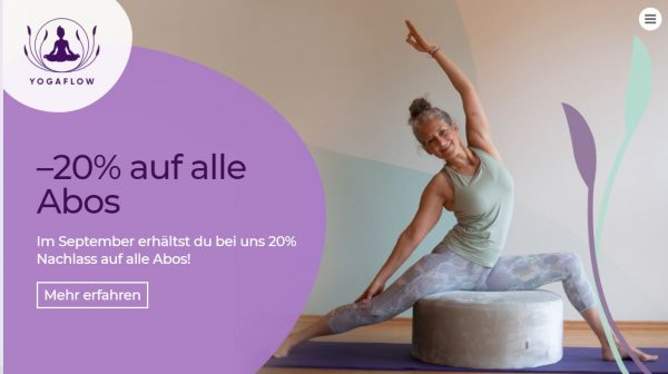 Rabattaktion von Yogaflow Münster