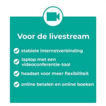 Voor de livestream
