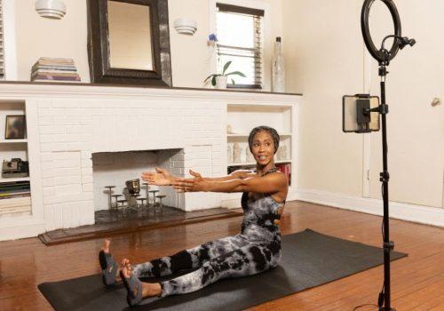 Equipment für Online Yoga und Fitness