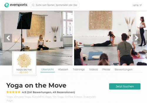 Yoga on the Move, eines der Top Yoga Studios in Berlin