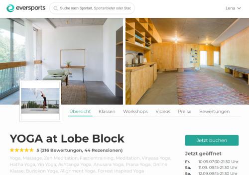 Top Yoga Studios in Berlin: YOGA at Lobe Block