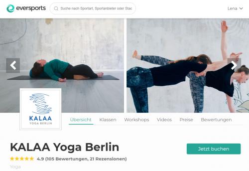 KALAA Yoga Studio in Berlin