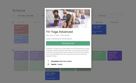 Yoga Software Marketplace Eversports