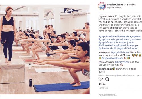 Yogaloft Yoga workout instagram post